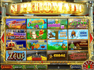 Superomatic игровые автоматы игровые аппараты в москве казино джек-пот